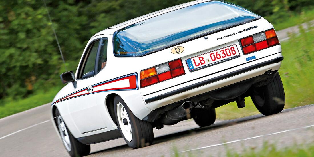 Porsche 924, Heckansicht