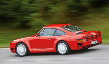 Porsche 959, Seitenansicht