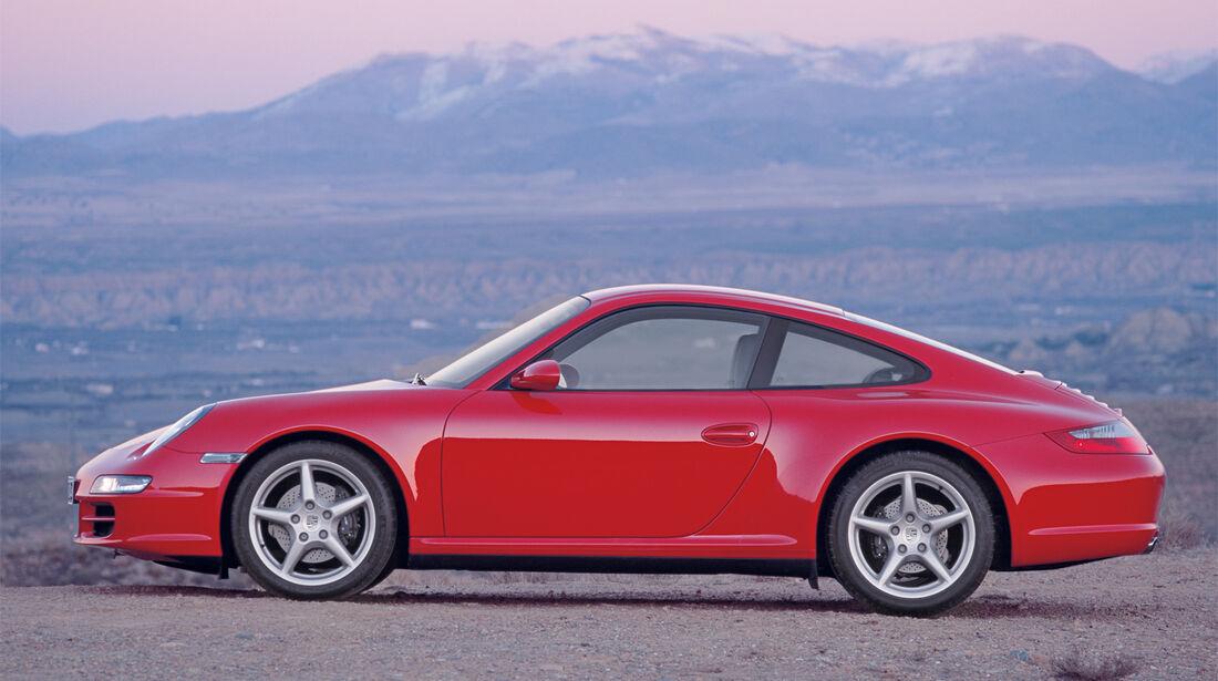 Porsche 997, Seitenansicht