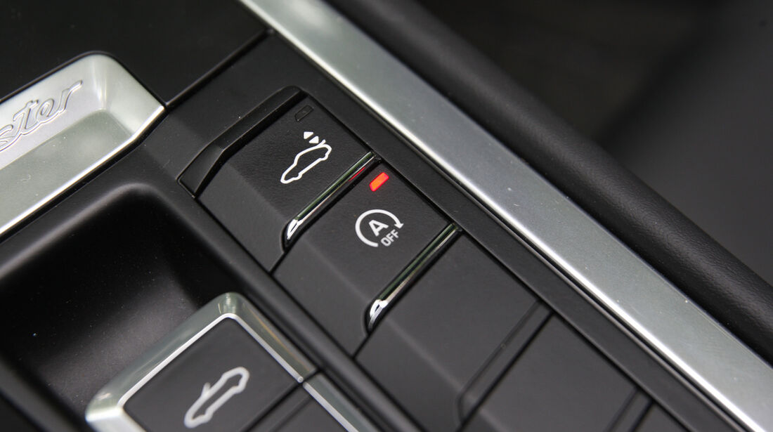 Porsche Boxster S, Bedienelemente