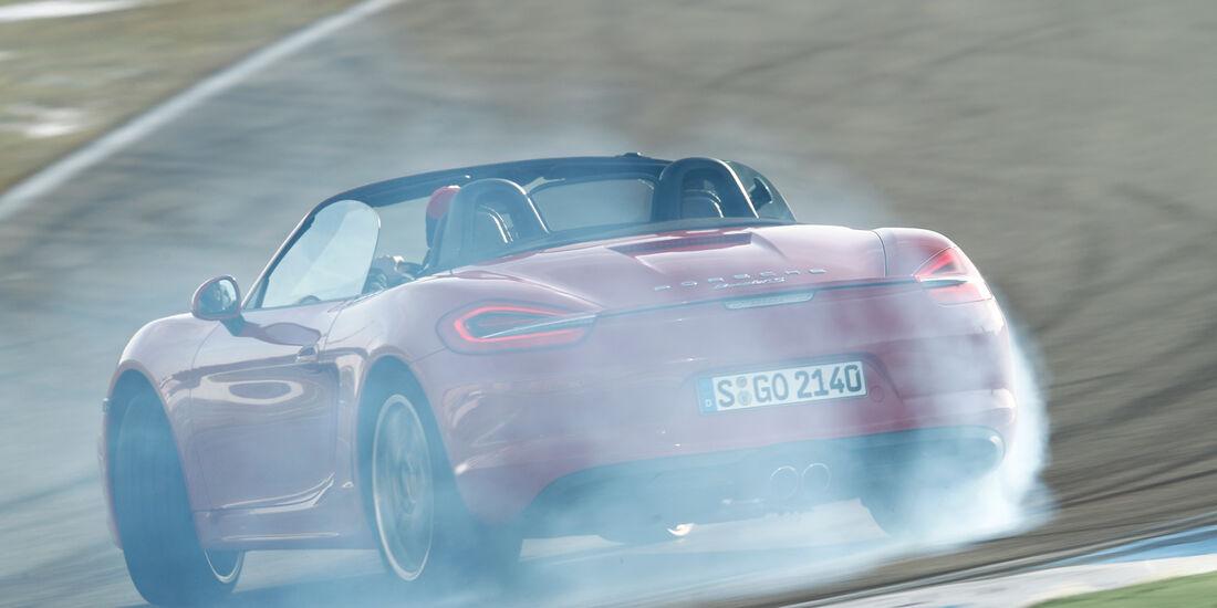 Porsche Boxster S, Heckansicht, Driften