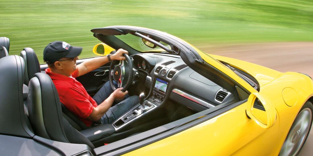 Porsche Boxster S, Seitentür, Cockpit