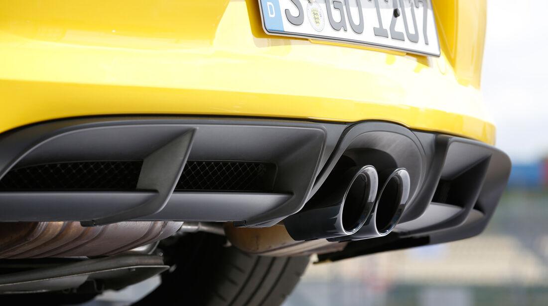 Porsche Cayman GT4, Auspuff, Endrohr