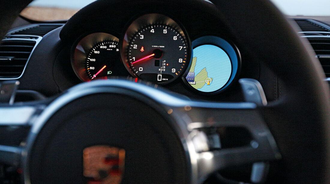 Porsche Cayman S, Rundinstrumente, Lenkrad
