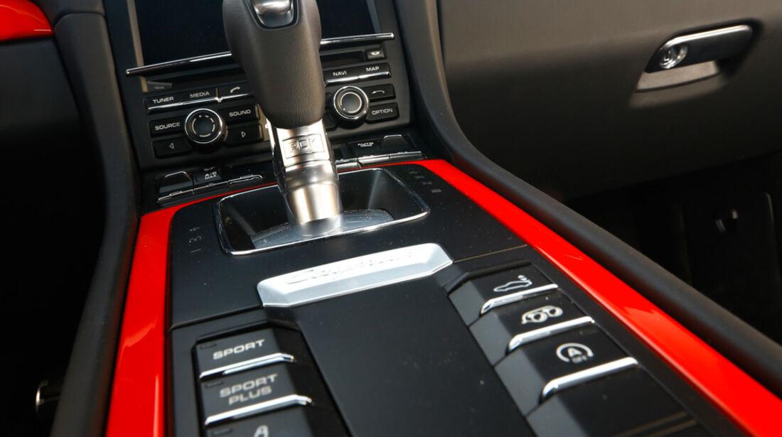 Porsche Cayman S, Schalthebel, Schaltknauf