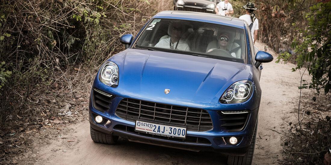 Porsche Macan Frontal Fahrend