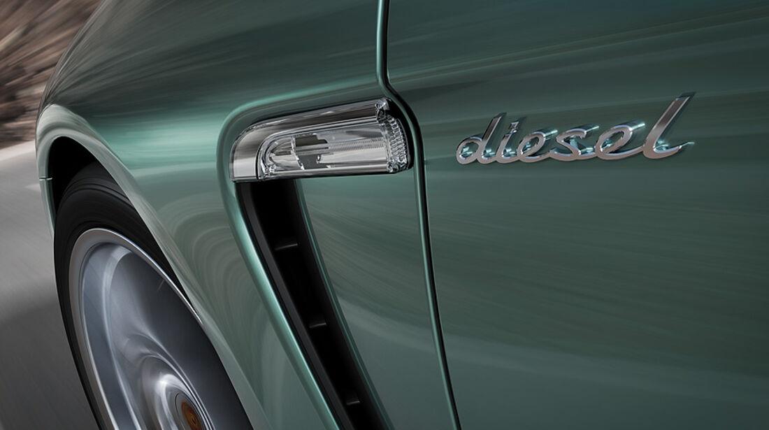 Porsche Panamera Diesel, Schriftzug