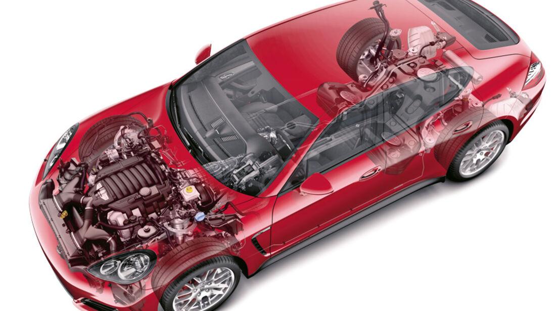 Porsche Panamera GTS, Grafik, Motor