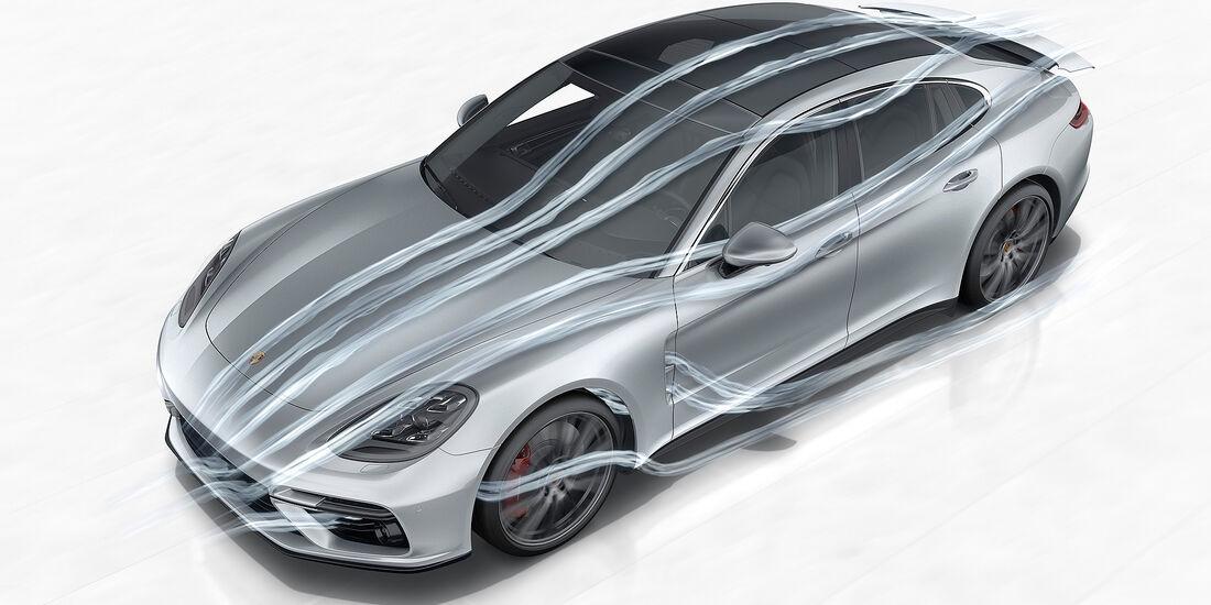Porsche Panamera Turbo: Aerodynamik