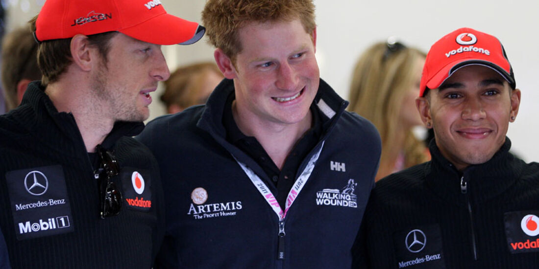 Prinz Harry McLaren GP England 2011 Rennen