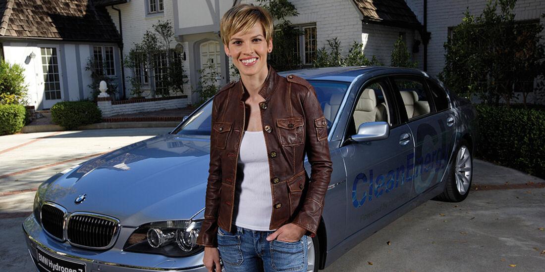 Promi-Autos, BMW, Hilary Swank