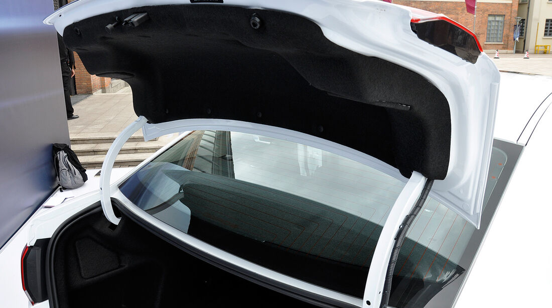 Qoros 3 Sedan, Kofferraum