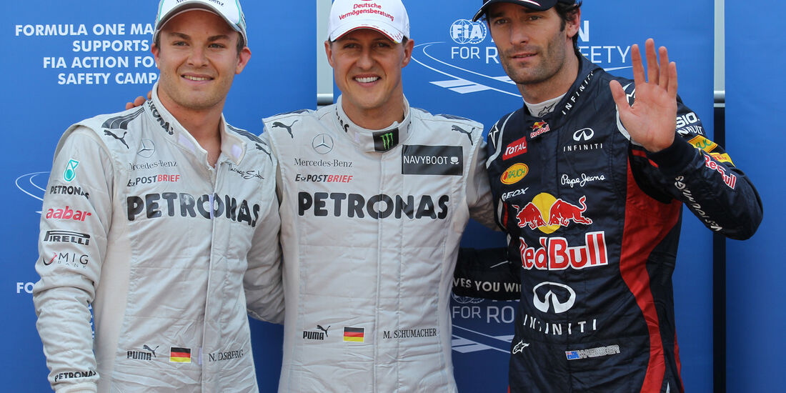 Qualifying Top 3 - Formel 1 - GP Monaco - 26. Mai 2012