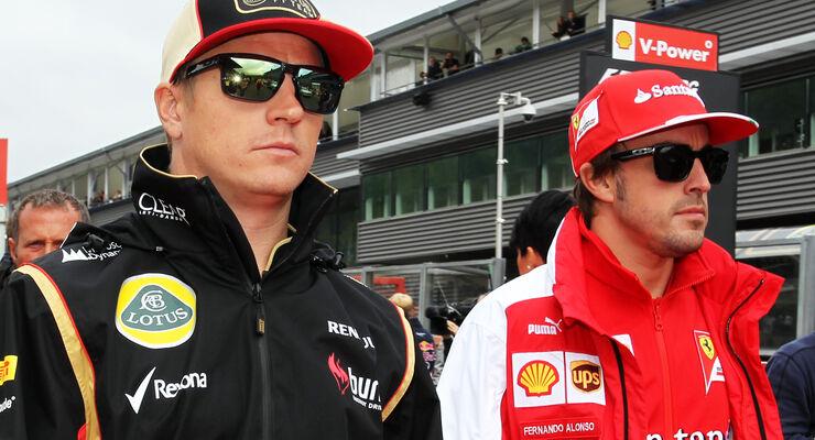 Räikkönen & Alonso - GP Belgien 2013