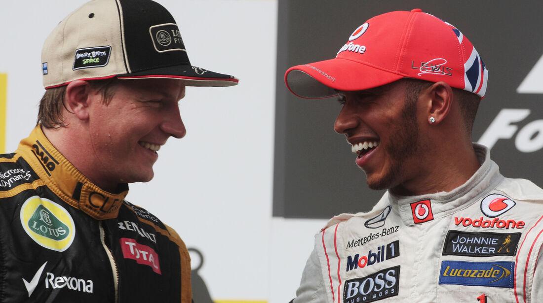 Räikkönen & Hamilton GP Ungarn 2012