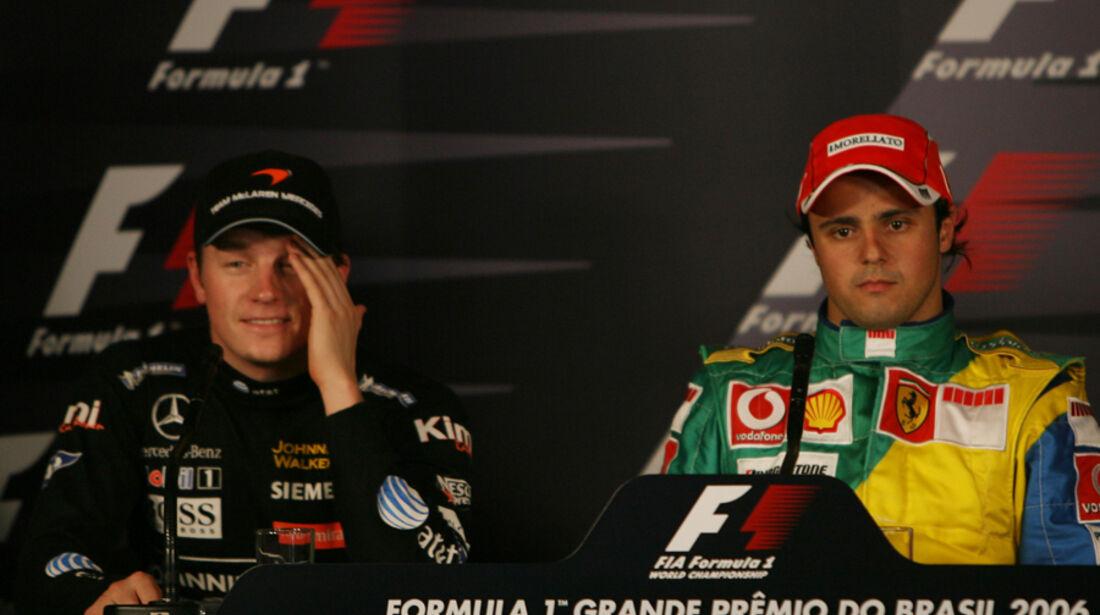 Räikkönen Massa 2006 GP Brasilien