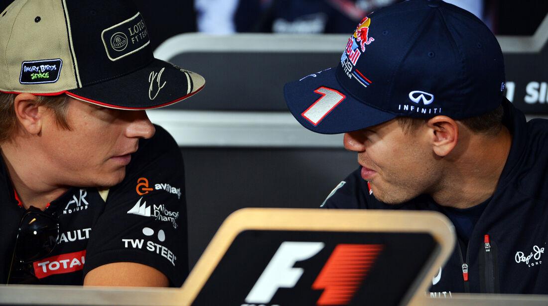 Räikkönen & Vettel - Formel 1 - GP Singapur - 20. September 2012