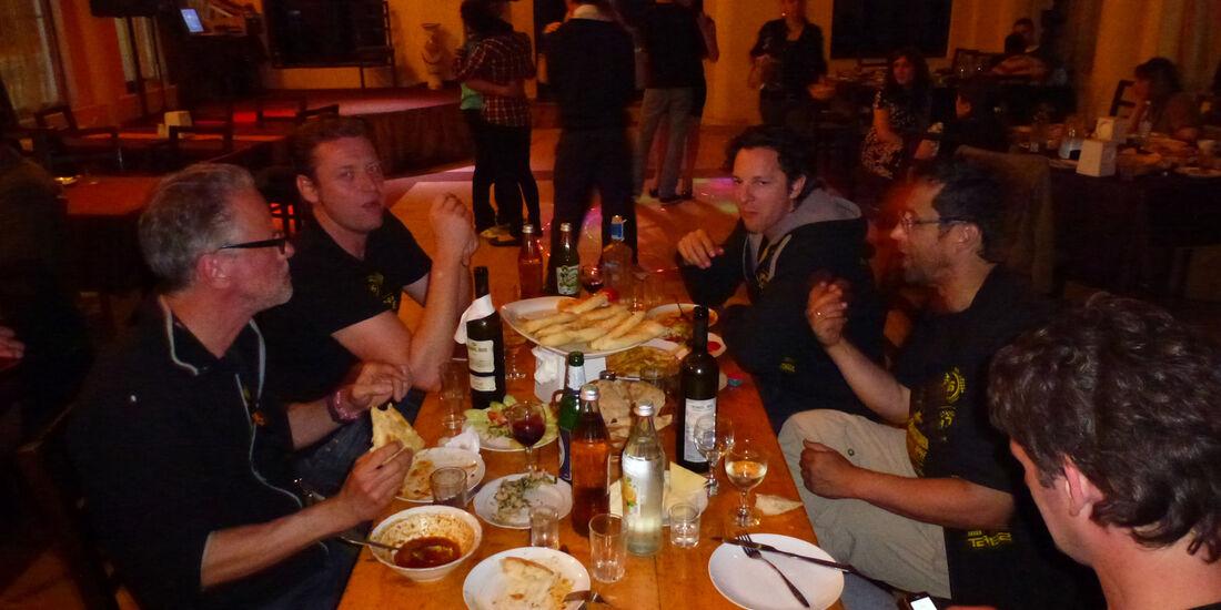 Rallye Allgäu-Orient, Abendessen