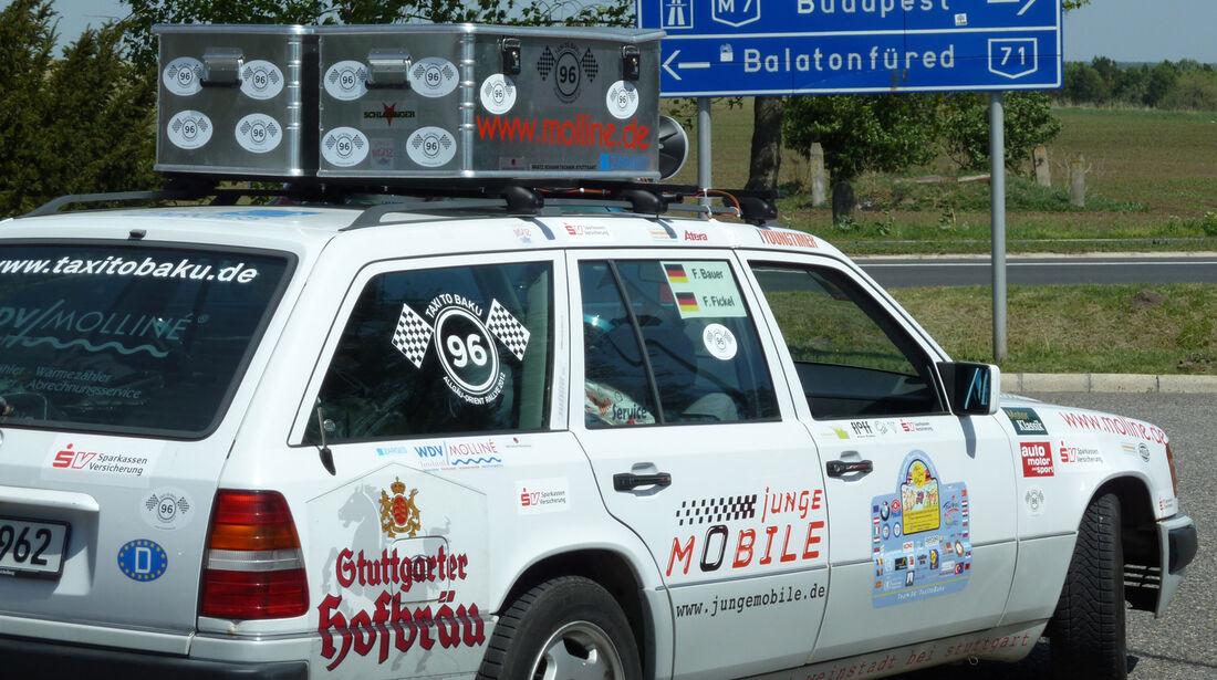 Rallye Allgäu-Orient, Mercedes 230, Seitenansicht