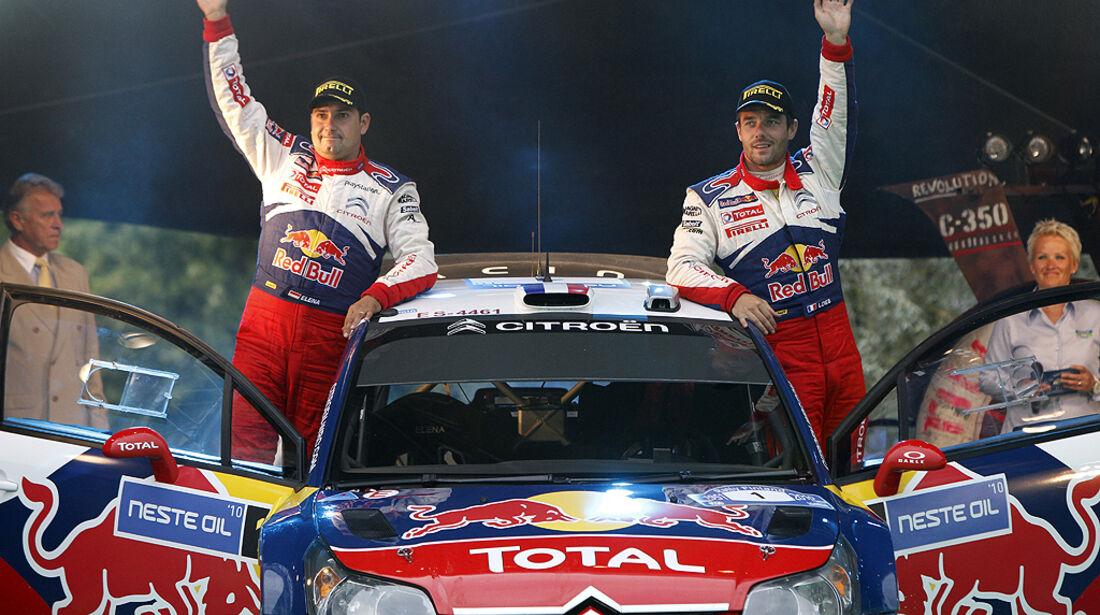 Rallye Finnland 2010, Loeb, Citroen C4 WRC, Siegesfeier