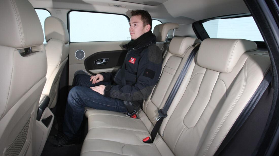 Range Rover Evoque TD4 Pure, Rücksitze