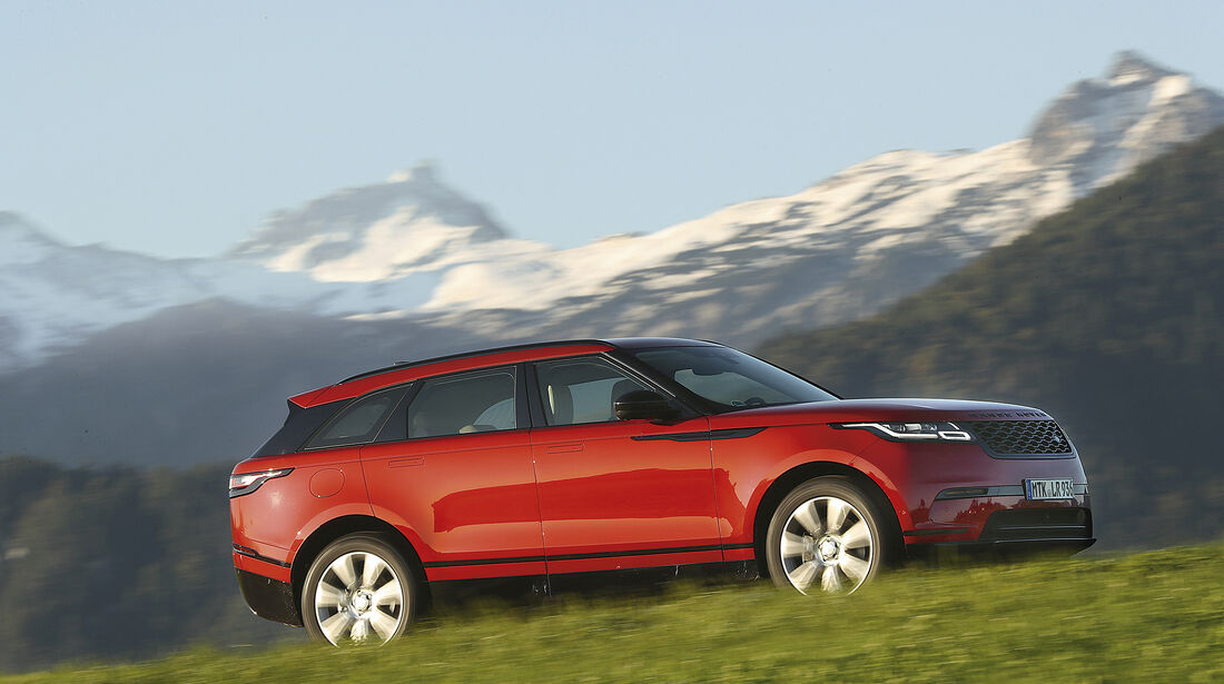 Range Rover Velar, Exterieur Seite