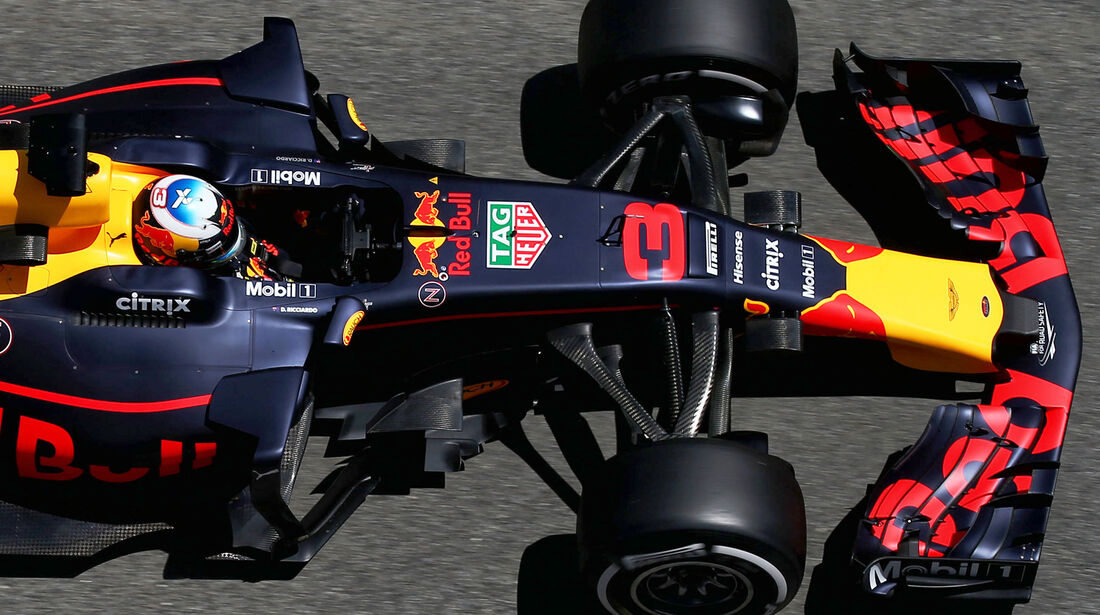 Red Bull - F1-Abmessungen - 07/2017