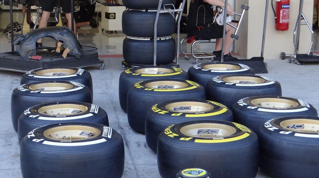 Reifen  - Formel 1 - GP Abu Dhabi - 01. November 2012