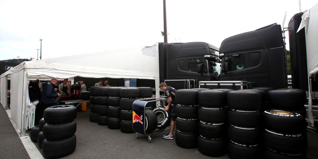 Reifen - Formel 1 - GP Belgien - Spa - 30.8.2012