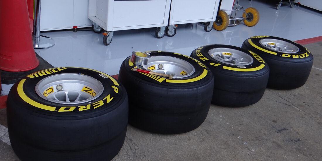 Reifen - Formel 1 - Test - Barcelona - 20. Februar 2013