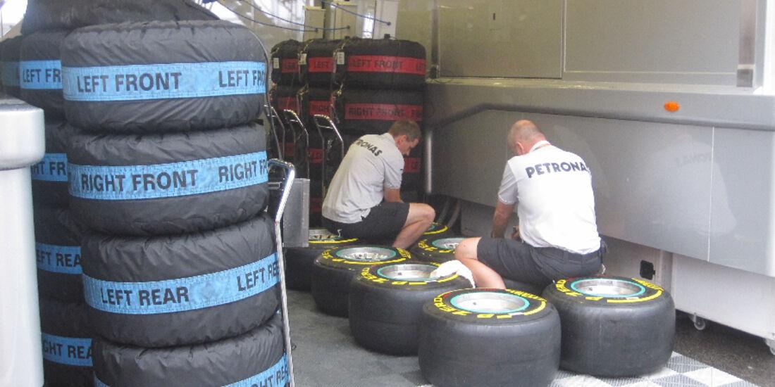 Reifen - GP Ungarn - Formel 1 - 28.7.2011