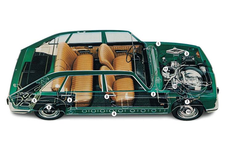Renault 16 - Phantomzeichnung