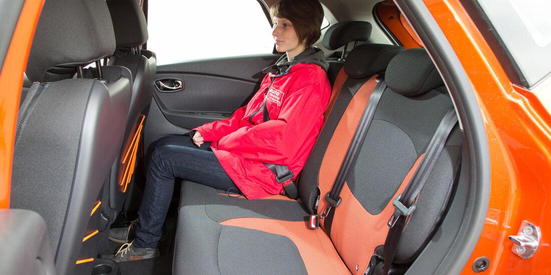 Renault Captur dCi 110, Fondsitze