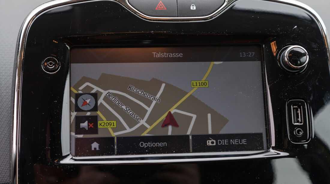 Renault Clio 1.2 16V 75, Navi, Bildschirm