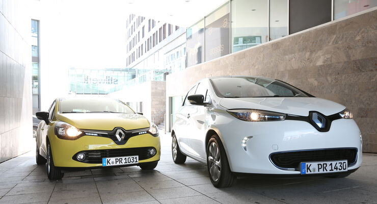 Renault Clio TCe 90, Renault Zoe, Frontansicht