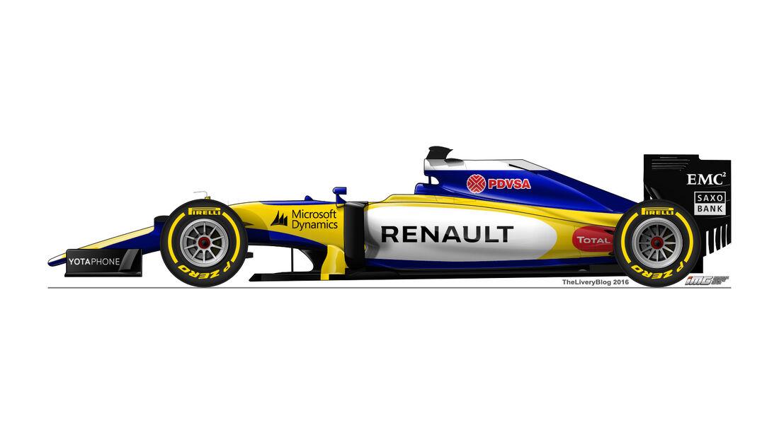 Renault - Formel 1 Design Concepts 2016