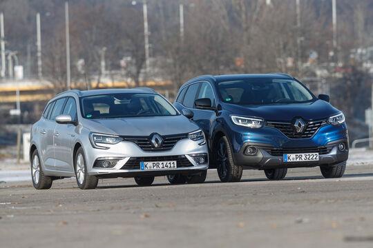 Renault Kadjar TCe 130, Renault Mégane Grandtour TCe 130, Frontansicht