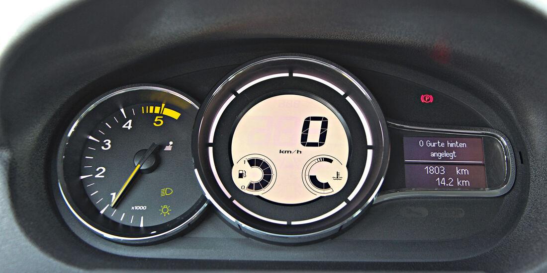 Renault Mégane Grandtour Energy dCi 110, Rundinstrumente, Tacho