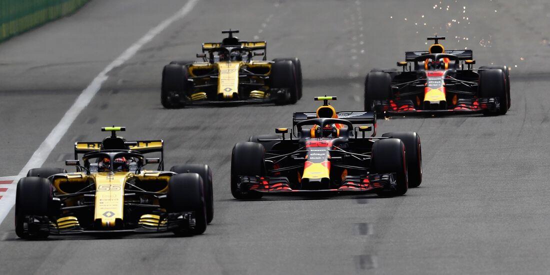 Renault - Red Bull - Formel 1 - GP Aserbaidschan - 29. April 2018