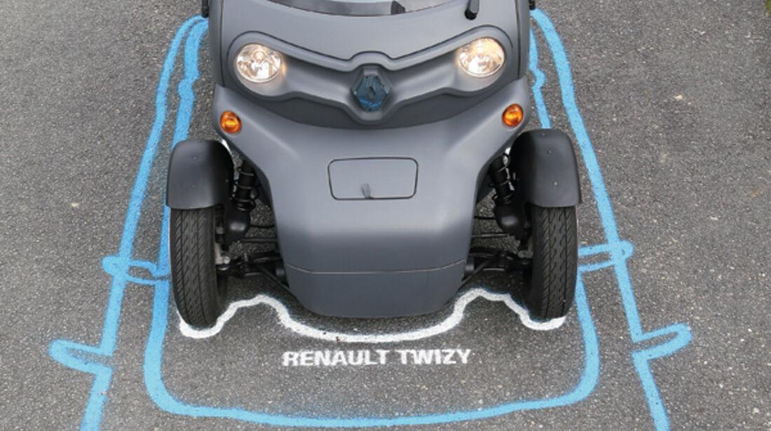 Renault Twizy, Größenvergleich