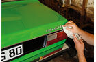 Restaurierung Audi 80 GTE, Heck, Emblem