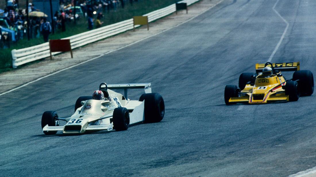 Rolf Stommelen - Arrows-Ford FA1 - Jochen Mass - ATS-Ford HS1 - GP Südafrika 1978 - Kyalami