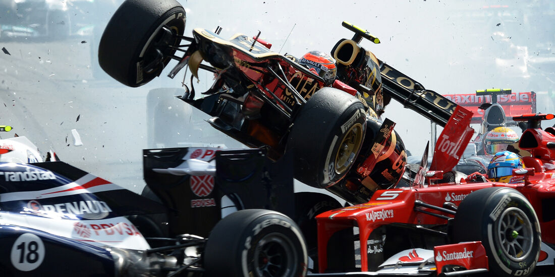 Romain Grosjean GP Belgien 2012