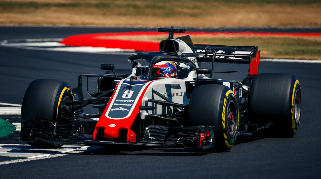 Romain Grosjean - GP England 2018