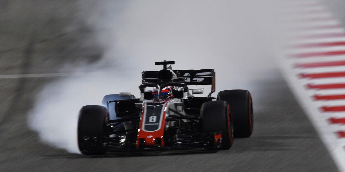 Romain Grosjean - HaasF1 - Formel 1 - GP Bahrain - 7. April 2018