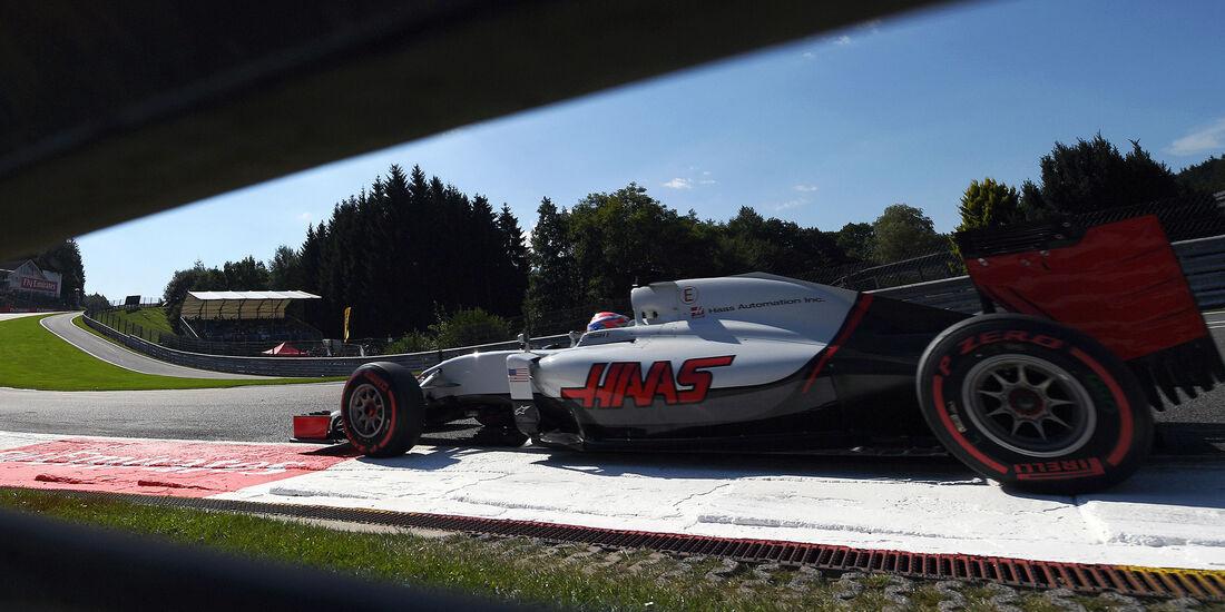 Romain Grosjean - HaasF1 - Formel 1 - GP Belgien - Spa-Francorchamps - 27. August 2016