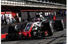 Romain Grosjean - HaasF1 - Formel 1 - Testfahrten - Barcelona - Dienstag - 15.5.2018
