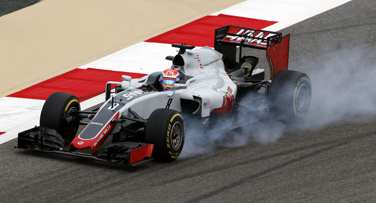 Romain Grosjean - HaasF1 - GP Bahrain - Formel 1 - 1. April 2016