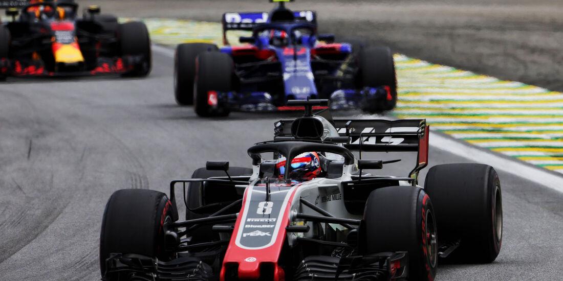 Romain Grosjean - HaasF1 - GP Brasilien 2018 - Rennen