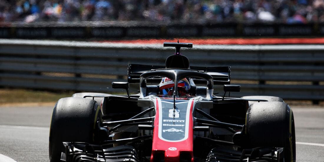Romain Grosjean - HaasF1 - GP England - Silverstone - Formel 1 - Samstag - 7.7.2018
